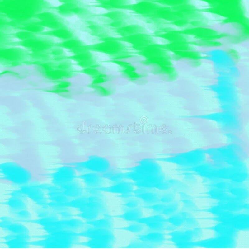 Абстрактная голубая и серая и зеленая предпосылка темная и светлая - синь и серые и зеленые пятна краски иллюстрация вектора