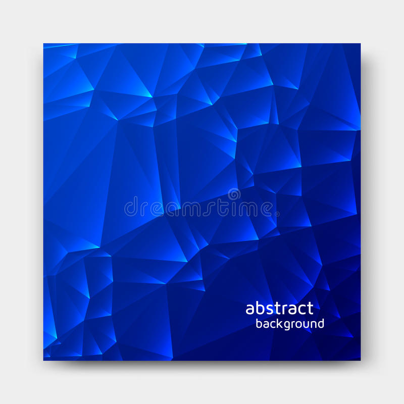 Абстрактная голубая полигональная предпосылка иллюстрация вектора