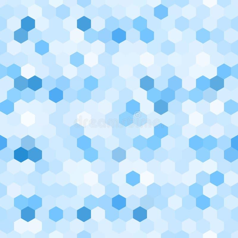 Абстрактная голубая предпосылка Картина мозаики шестиугольника бесплатная иллюстрация