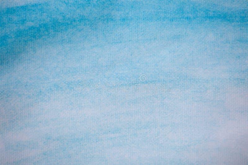 Абстрактная голубая предпосылка краски руки акварели стоковое изображение