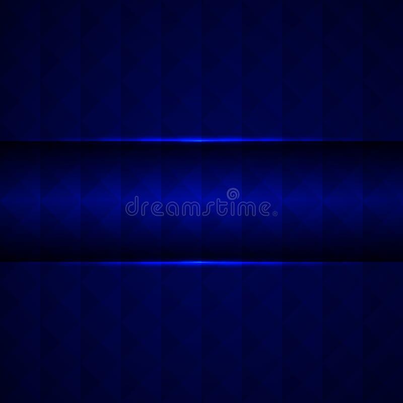 Абстрактная голубая предпосылка с квадратами и треугольниками, иллюстрацией вектора стоковые изображения rf