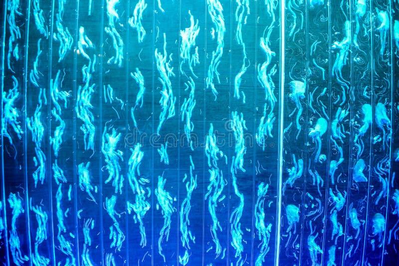 Абстрактная голубая предпосылка с световым эффектом стоковые фотографии rf