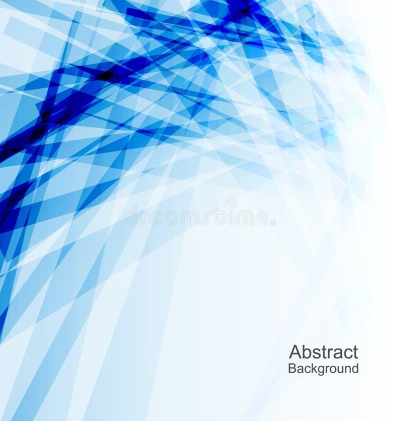 Абстрактная голубая предпосылка, шаблон концепции иллюстрация вектора