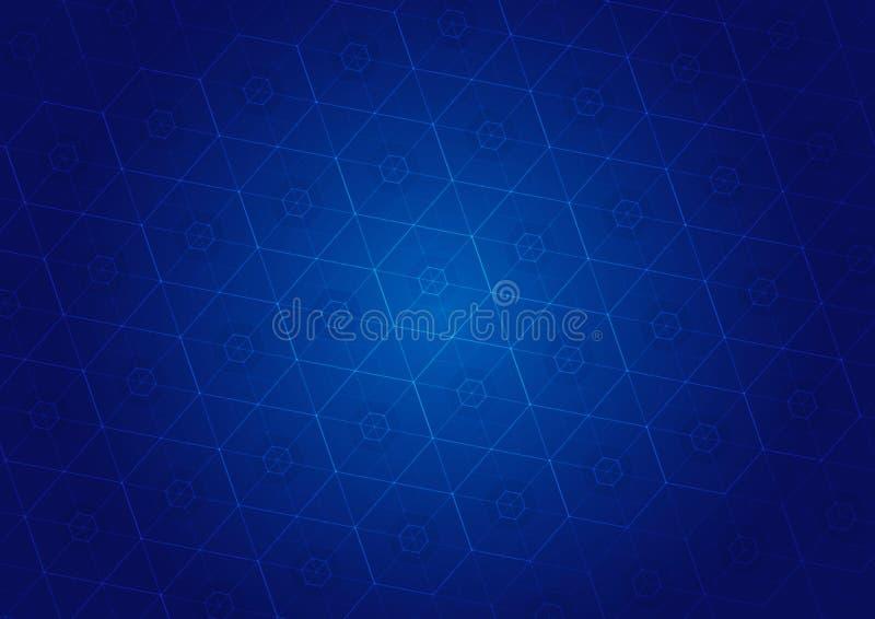 Абстрактная голубая предпосылка бесплатная иллюстрация