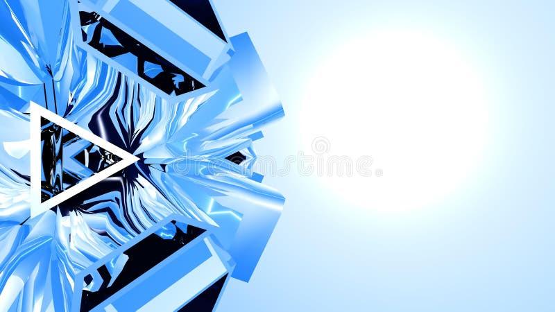 Абстрактная голубая предпосылка иллюстрация штока