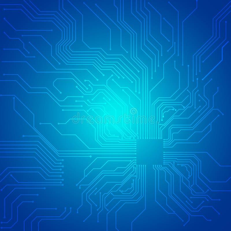Абстрактная голубая технологическая предпосылка иллюстрация штока