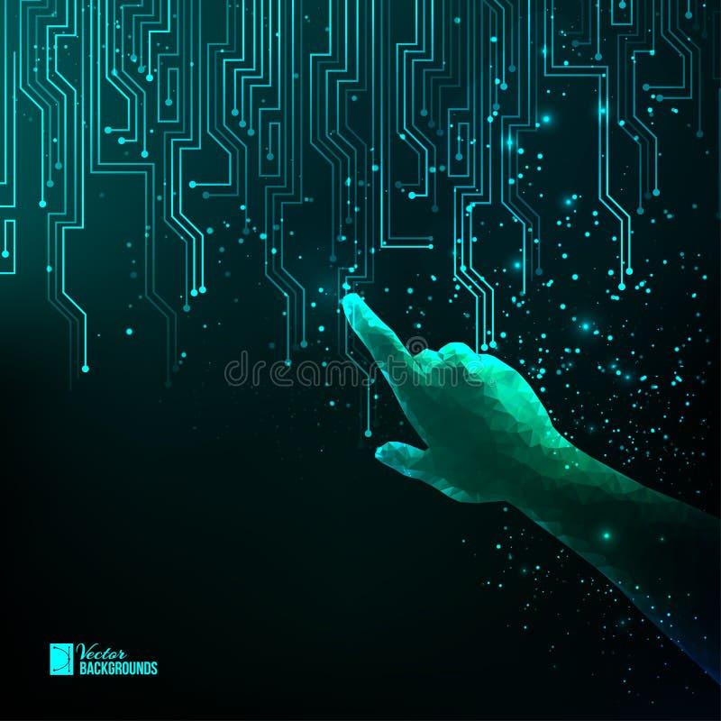 Абстрактная голубая электрическая цепь бесплатная иллюстрация