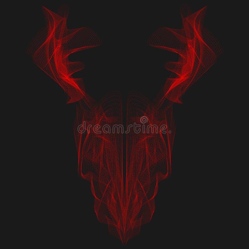 Абстрактная графическая линия искусство рентгеновского снимка головы дракона для дизайна иллюстрация штока