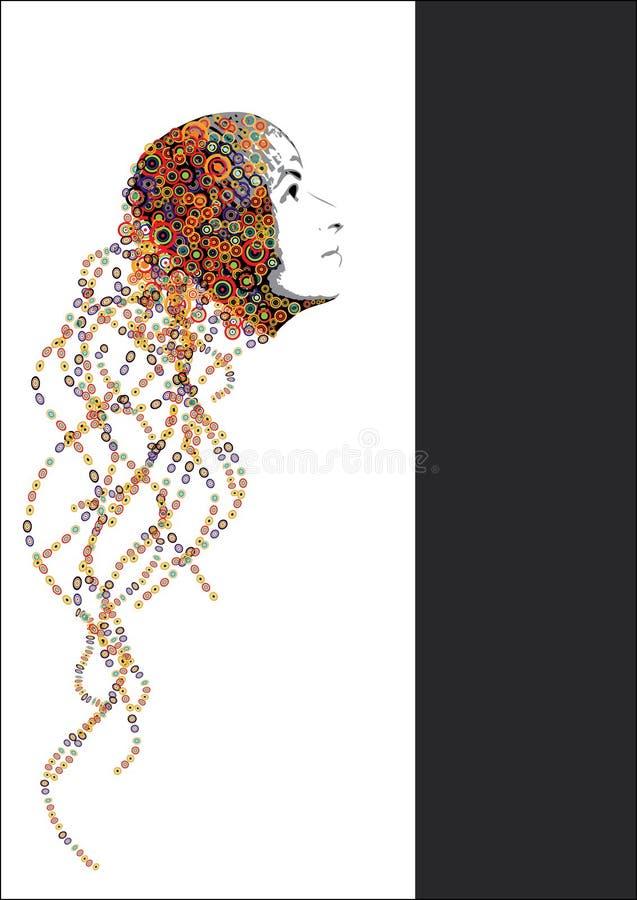 абстрактная девушка предпосылки иллюстрация вектора
