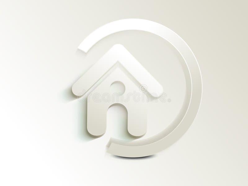 Абстрактная домашняя кнопка иконы бесплатная иллюстрация