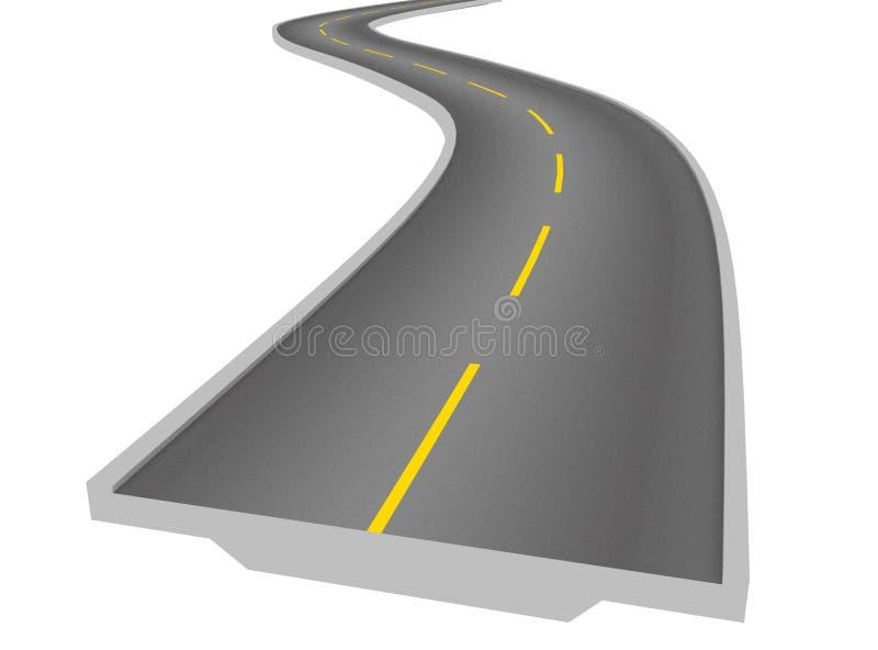 абстрактная дорога иллюстрация штока