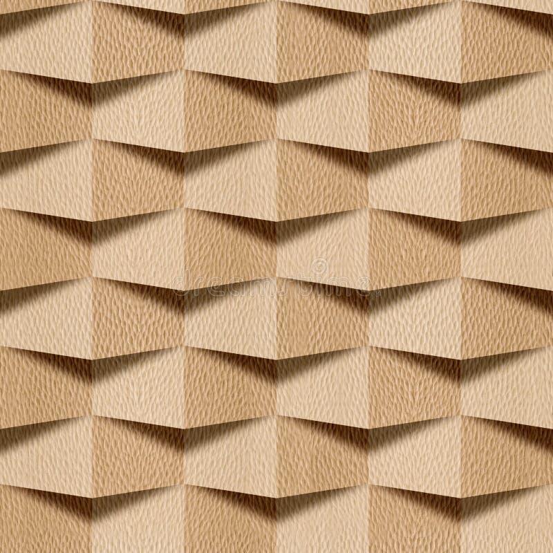 Абстрактная декоративная стена - безшовная предпосылка - древесина белого дуба бесплатная иллюстрация