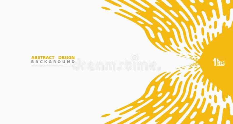 Абстрактная желтая линия предпосылка нашивки вектора дизайна украшения художественного произведения деталей картины r бесплатная иллюстрация
