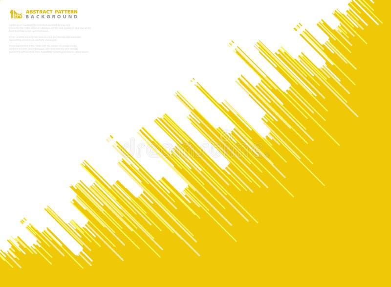 Абстрактная желтая линия предпосылка нашивки вектора технологии дизайна картины r иллюстрация штока