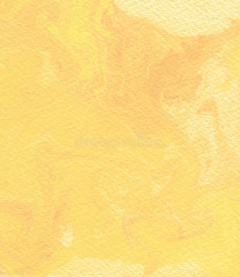 Абстрактная желтая предпосылка акварели бесплатная иллюстрация