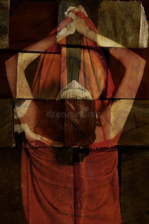 абстрактная женщина портрета стоковое фото rf
