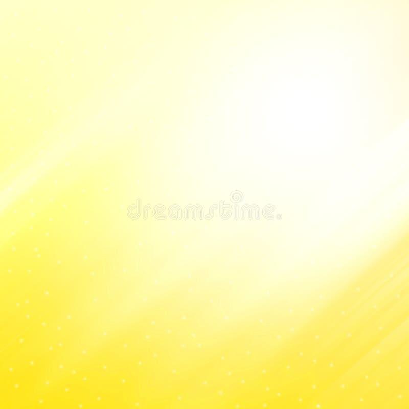 Абстрактная желтая предпосылка иллюстрация вектора