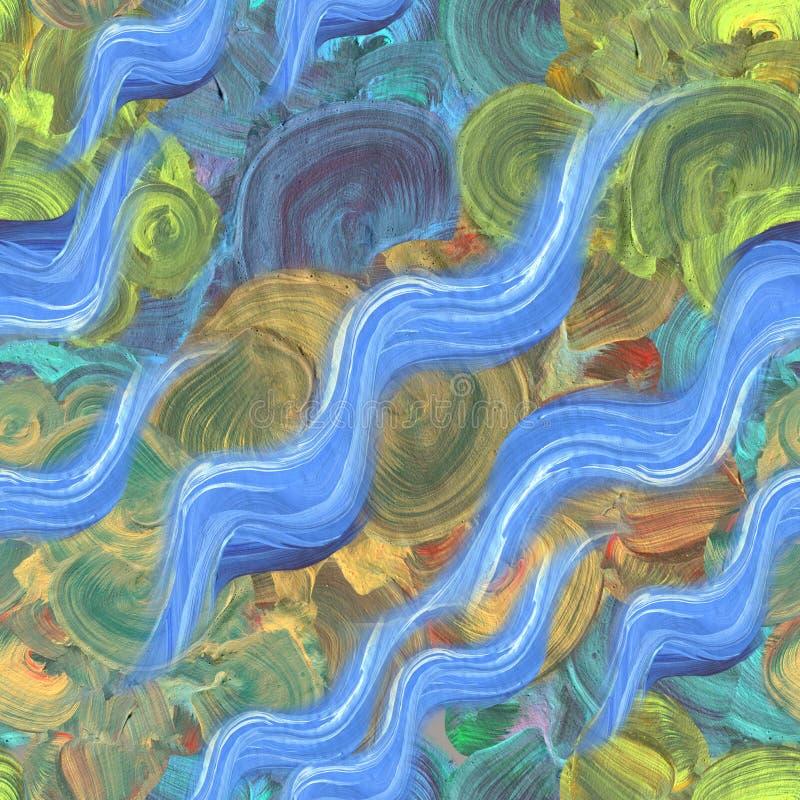 Абстрактная живописная предпосылка картины с ярким brushstroke и художническими текстурами щеток иллюстрация штока
