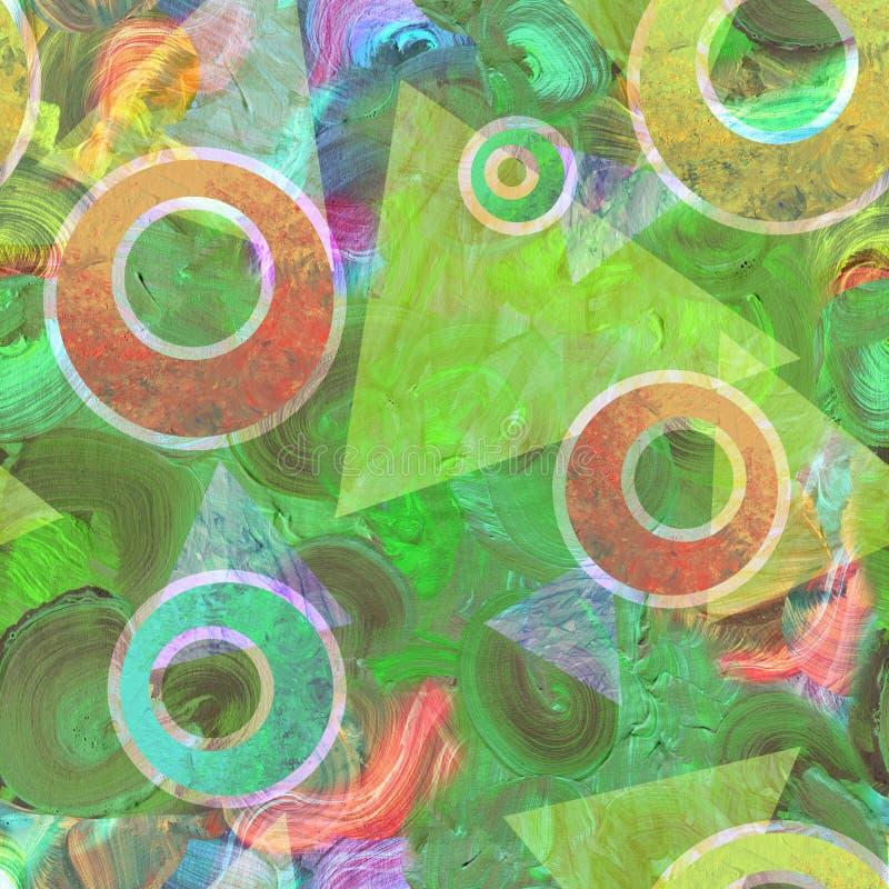 Абстрактная живописная предпосылка картины с ярким brushstroke и художническими текстурами щеток бесплатная иллюстрация