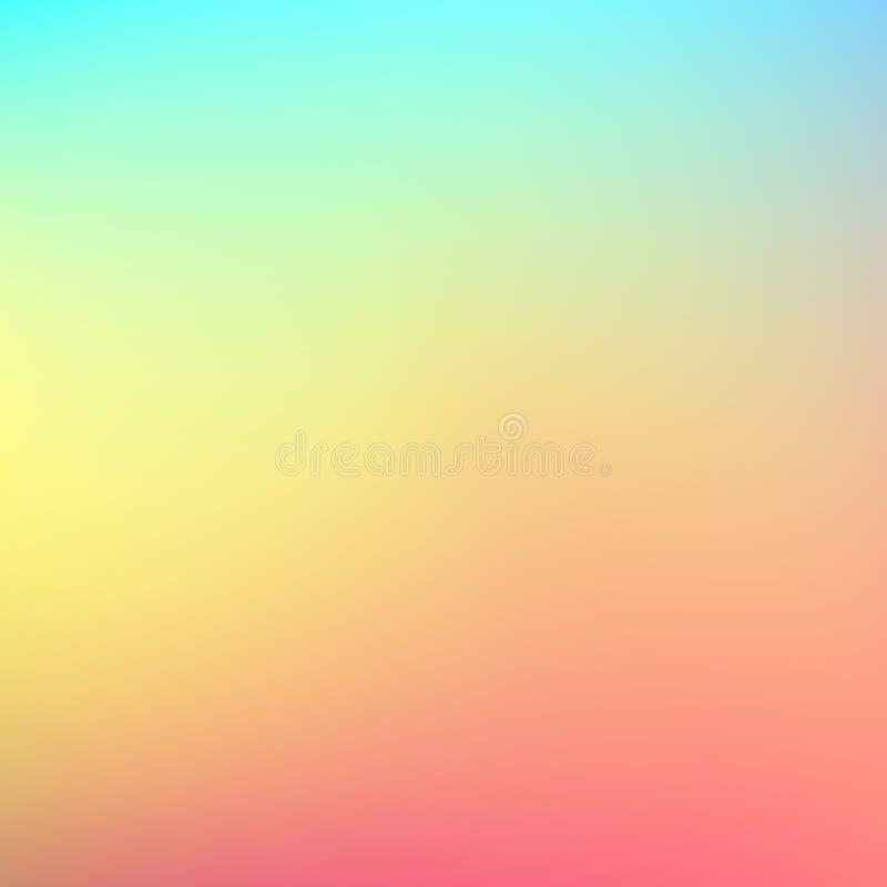 Абстрактная запачканная предпосылка градиента Шаблон знамени мягкого цвета ровный Красная желтая и голубая сетка r иллюстрация вектора