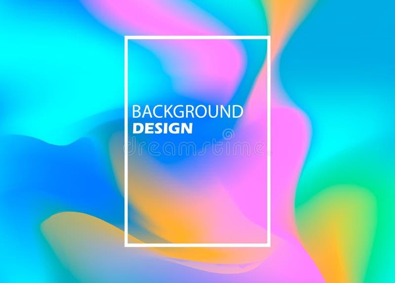 Абстрактная запачканная предпосылка сетки градиента в ярких цветах радуги Красочный ровный шаблон знамени Легкая editable нежност иллюстрация штока