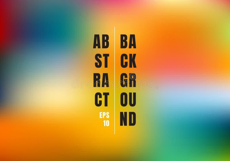 Абстрактная запачканная предпосылка сетки градиента красочная Яркая радуга красит ровное знамя шаблона иллюстрация вектора