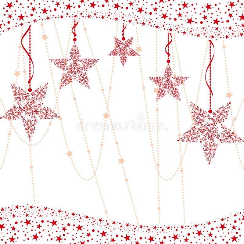абстрактная звезда красного цвета рождества предпосылки иллюстрация штока