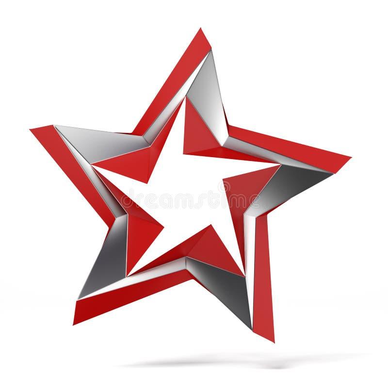 Абстрактная звезда иллюстрация штока