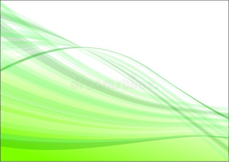 абстрактная зеленая волна вектора иллюстрация вектора
