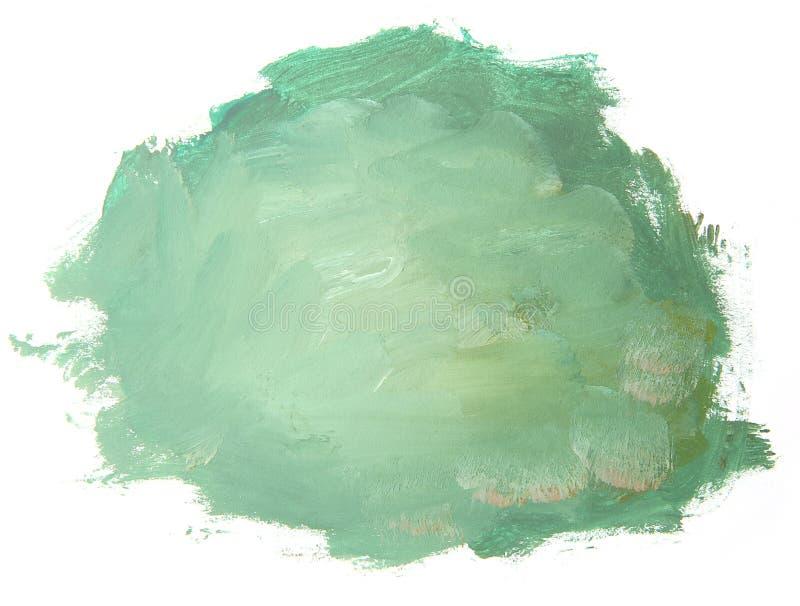 Абстрактная зеленая красная картина изолированная на белой предпосылке иллюстрация штока