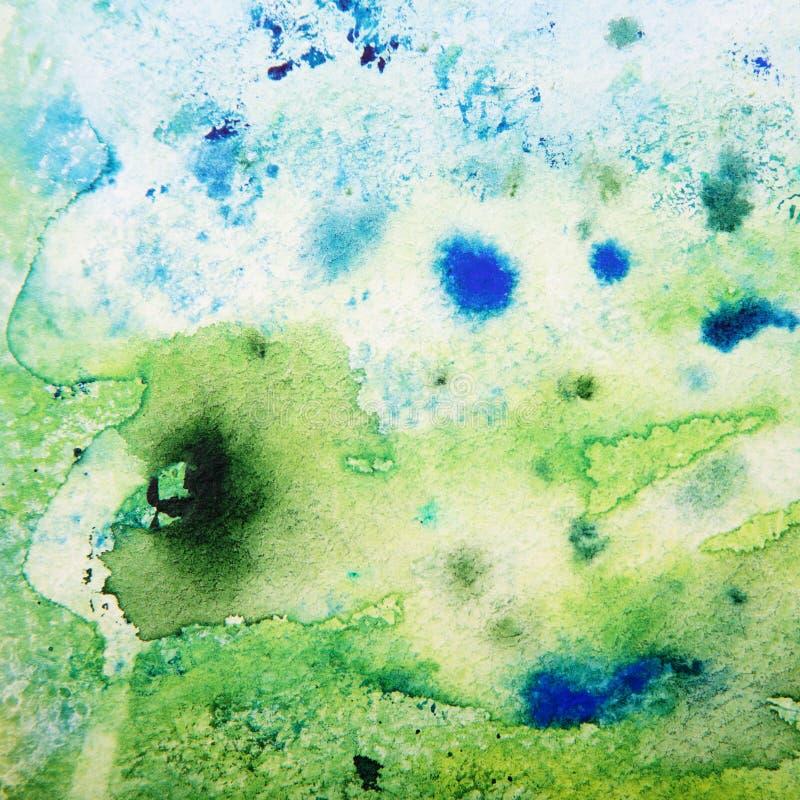 Абстрактная зеленая акварель иллюстрация штока