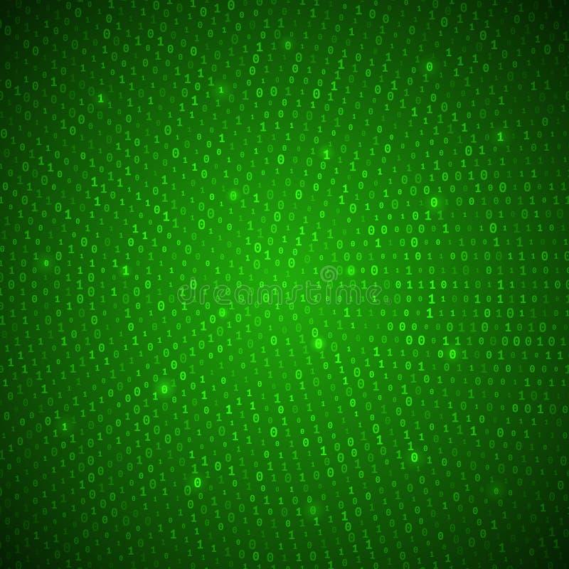 Абстрактная зеленая бинарная предпосылка иллюстрация вектора