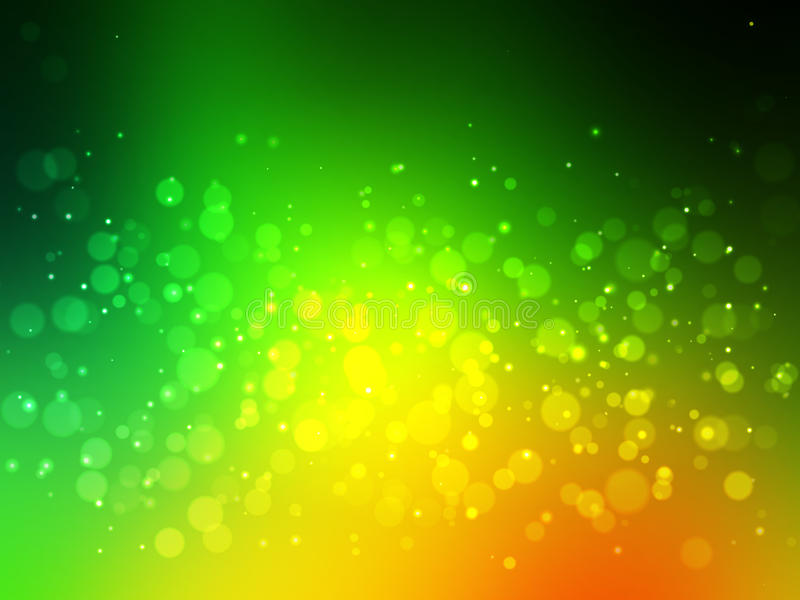 Абстрактная зеленая красочная предпосылка bokeh празднично иллюстрация штока
