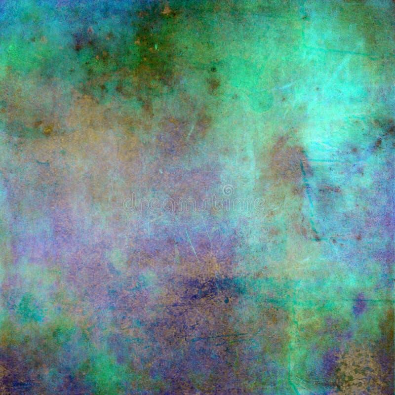 Абстрактная зеленая предпосылка или голубая предпосылка с винтажным grunge стоковое изображение