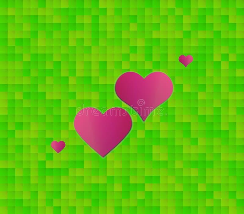 Абстрактная зеленая предпосылка с квадратами и некоторыми из квадратов a бесплатная иллюстрация