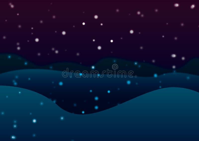 абстрактная зима ночи изображения фрактали стоковые изображения