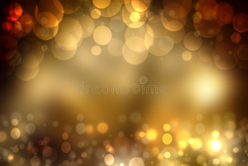 Абстрактная золотая праздничная предпосылка bokeh с искрой bl яркого блеска стоковые изображения