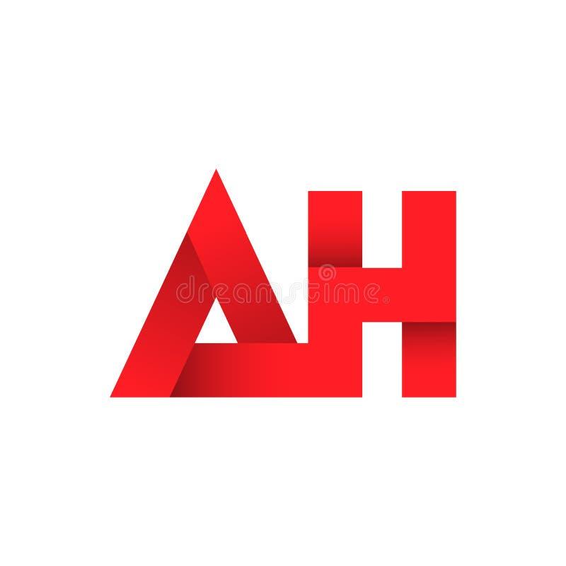 Абстрактная идея дизайна логотипа письма АХ иллюстрация штока