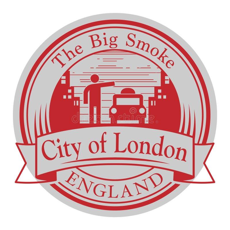 Абстрактная избитая фраза с Лондоном, Англией иллюстрация штока