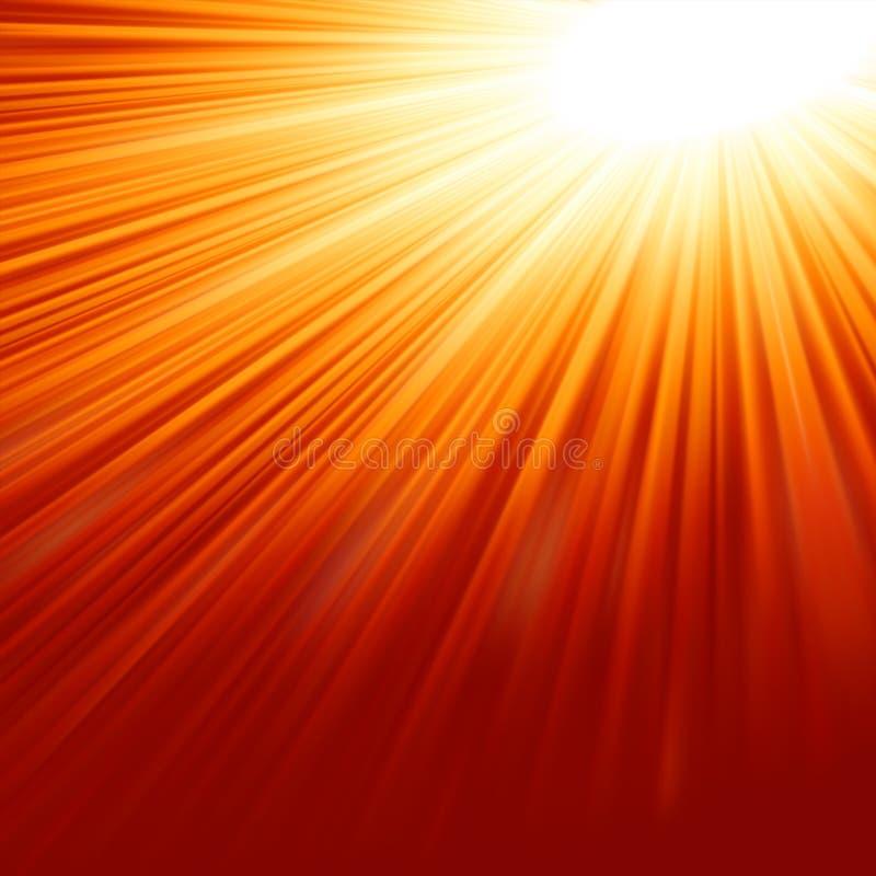 Абстрактная излучающая звезда. EPS 8 иллюстрация вектора