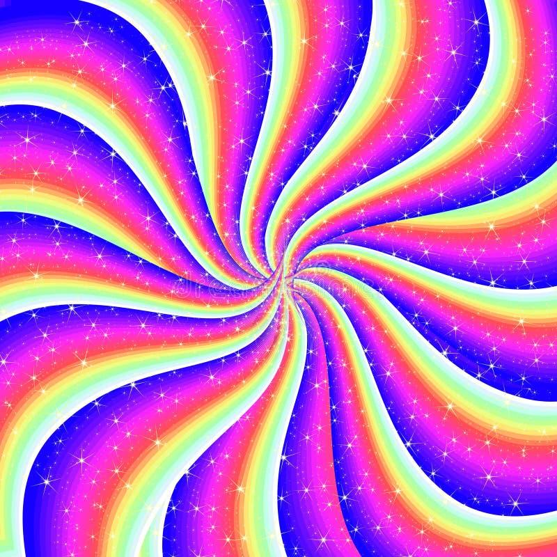 абстрактная изумительная радуга иллюстрация штока