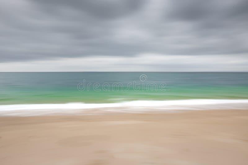 Абстрактная изумрудная нерезкость океана стоковое изображение rf