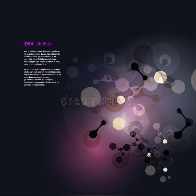 Абстрактная иллюстрация вектора дизайна молекул стоковое фото