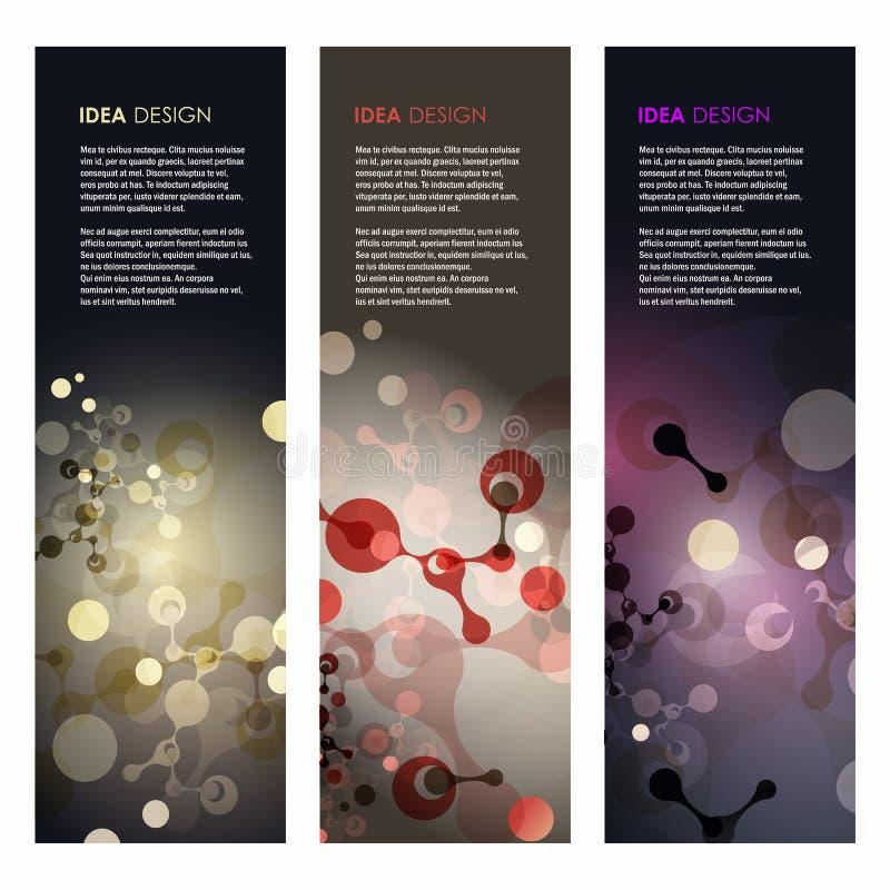 Абстрактная иллюстрация вектора дизайна молекул стоковая фотография