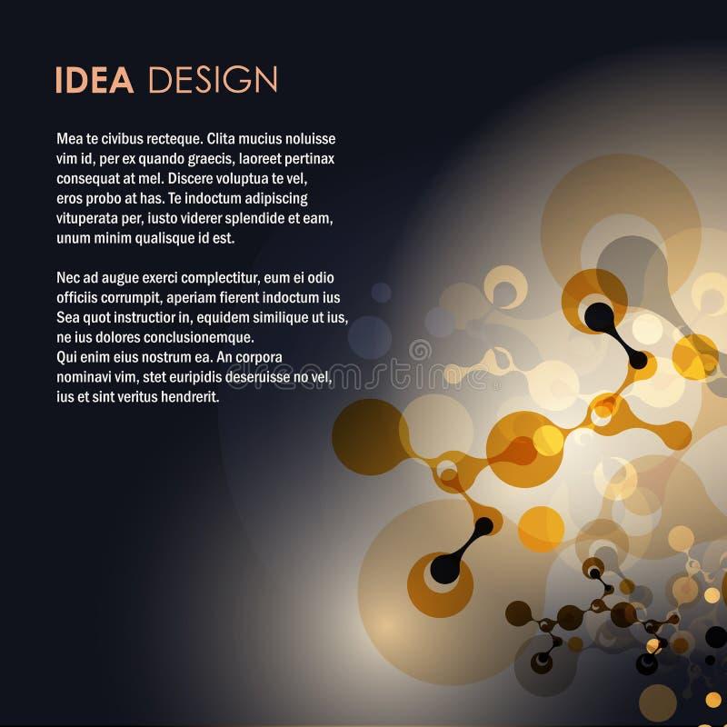 Абстрактная иллюстрация вектора дизайна молекул стоковые изображения
