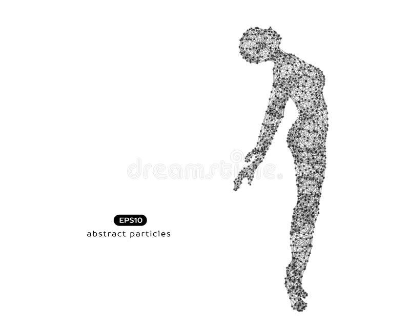 Абстрактная иллюстрация вектора летать красивая женщина иллюстрация штока