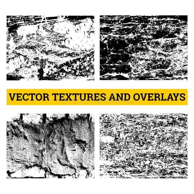 Абстрактная иллюстрация вектора полутонового изображения Текстуры и верхние слои Grunge для предпосылки и дизайна иллюстрация штока