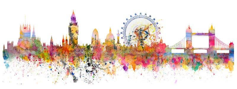 Абстрактная иллюстрация горизонта Лондона иллюстрация вектора