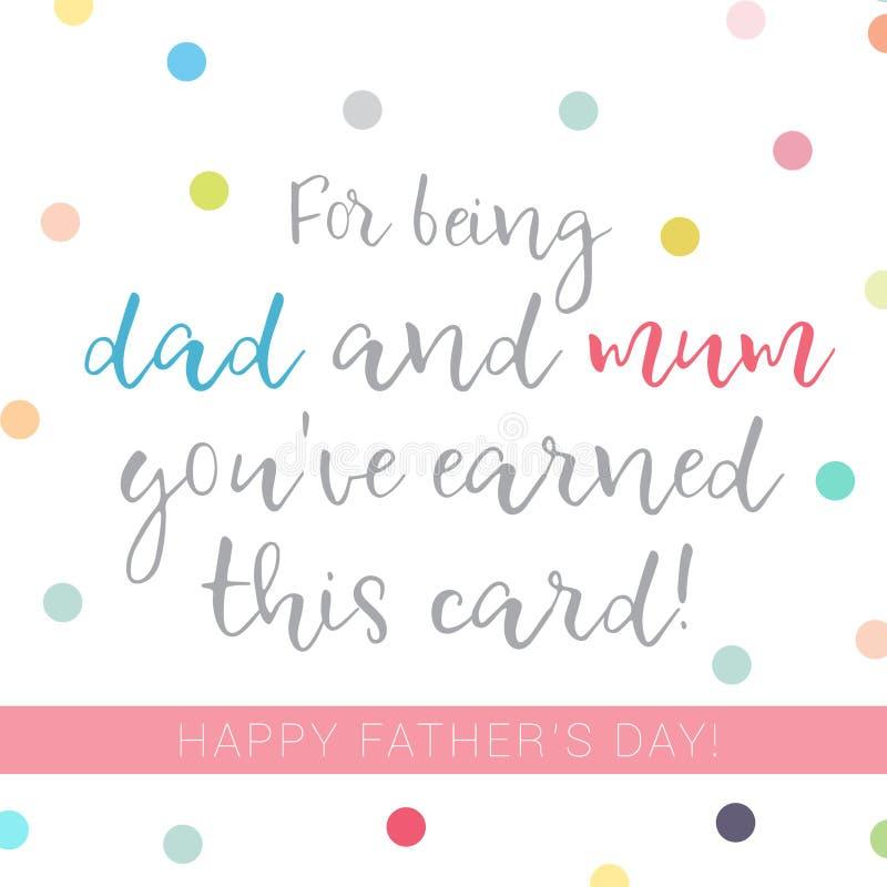 Абстрактная иллюстрация для одиночной мамы для того чтобы отпраздновать день ` s отца бесплатная иллюстрация