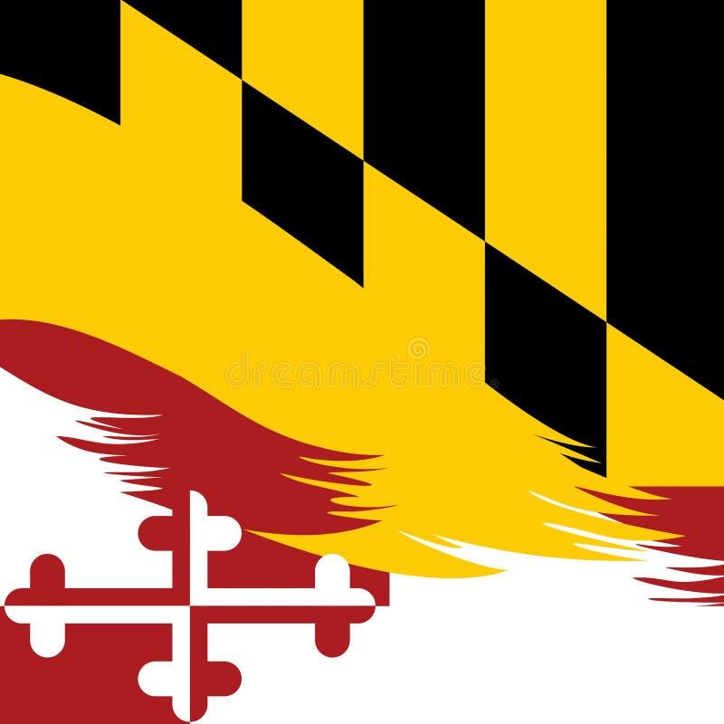Абстрактная иллюстрация предпосылки цвета флага Мэриленда иллюстрация штока